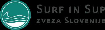Surf in sup zveza Slovenije Logo